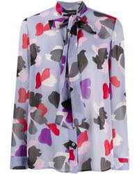 Emporio Armani Abstract Print Blouse - Purple