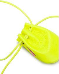 tubici Mykonos Leather Mini Bag - Yellow