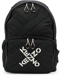 KENZO Zaino Con Bande Logo Nero