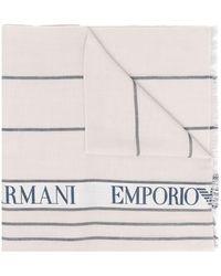 Emporio Armani Scarfs White - Multicolor