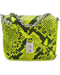 Rebecca Minkoff Love Too Snakeskin-print Micro Bag - Yellow
