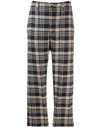 Closed Plaid Tailored Trousers - Blue
