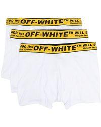 Off-White c/o Virgil Abloh Boxer con stampa - Bianco