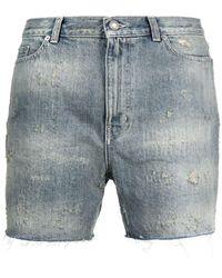 Saint Laurent Shorts Clear Blue