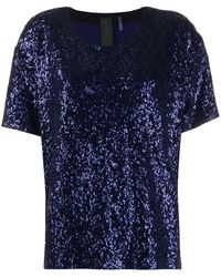 Norma Kamali Sequined Top - Blue