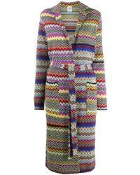 M Missoni Geometric-knit Robe Cardigan - Yellow