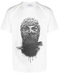 ih nom uh nit T-shirt con stampa grafica - Bianco