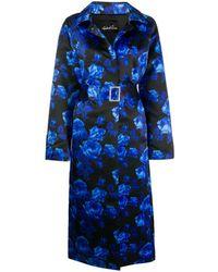 Richard Quinn Cappotto a fiori - Blu