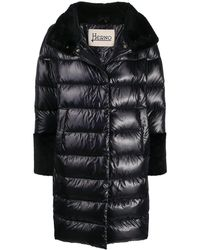 Herno Faux-fur Trim Padded Coat - Black
