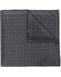 Givenchy Large 4g Silk-blend Scarf - Gray
