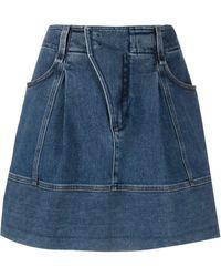 Chloé Gonna In Jeans - Blu