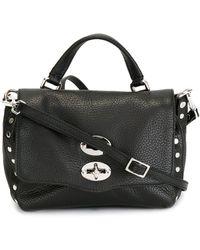 Zanellato Postina Baby Leather Handbag - Black