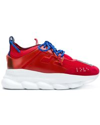 Versace - Chain Reaction Calf Sneakers - Lyst