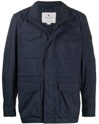 Woolrich Flap Pocket Field Jacket - Blue