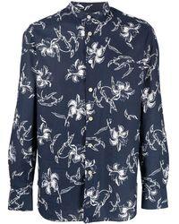 Kiton Camicia a fiori - Blu