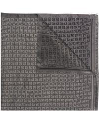 Givenchy Intarsia-knit Motif-detail Scarf - Gray