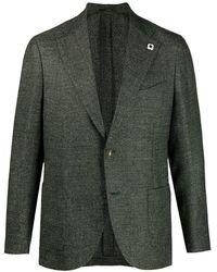 Lardini Peak-lapels Single-breasted Blazer - Green