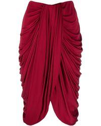 Isabel Marant Drape-detail High-waisted Skirt - Red