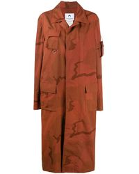 Marine Serre Regenerated Military Coat - Red