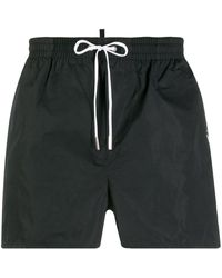 DSquared² Logo Swimming Trunks - Black