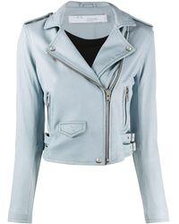 IRO Pocket Detail Biker Jacket - Blue