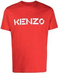KENZO Logo-print Short-sleeve T-shirt - Red