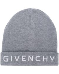 8b2f5962423 Givenchy Logo Leather Patch Beanie in Pink - Lyst
