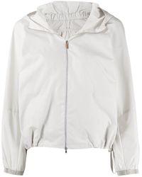 Fabiana Filippi Zipped Hooded Jacket - White