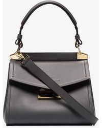 Givenchy Mystic Small Leather Shoulder Bag - Grey