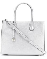 MICHAEL Michael Kors - Mercer Large Leather Tote Bag - Lyst
