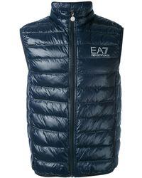 EA7 Logo Down Jacket - Blue