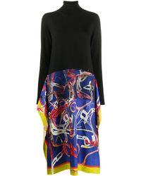 Maison Margiela Graphic-print Roll Neck Dress - Black