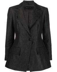 Emporio Armani Single Breasted Blazer - Black