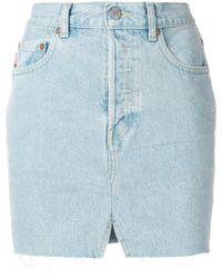 Vetements - Denim Mini Skirt - Lyst