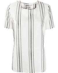 Fabiana Filippi Striped Print Blouse - White