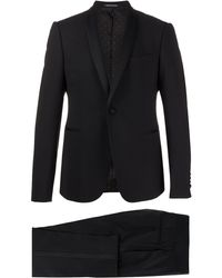 Emporio Armani Fitted Tuxedo Suit - Black