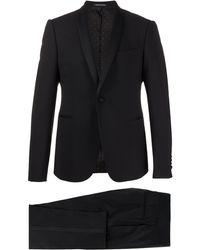 Emporio Armani Fitted Tuxedo Suit - Black