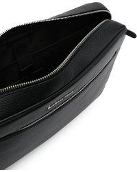 Michael Kors Logo-letter Leather Laptop Bag - Black