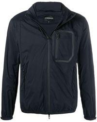 Emporio Armani Lightweight Long-sleeve Jacket - Blue
