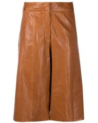 Arma Leather Trousers - Brown
