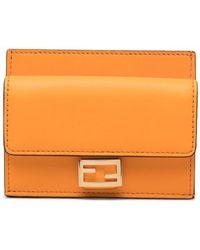 Fendi Ff Pattern Card Case - Orange