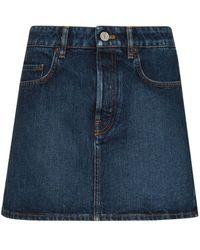 Balenciaga Denim Mini Skirt - Blue