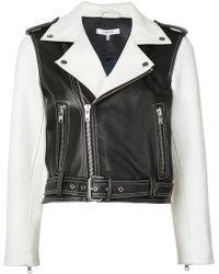 Ganni Cropped Biker Jacket - White