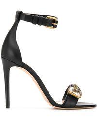 Alexander McQueen Butterfly Applique Sandals - Black