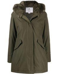 Woolrich Fur Trim Hood Parka - Green