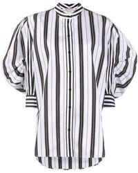 Alexander McQueen New Stripe Puff Sleeve Shirt - Black
