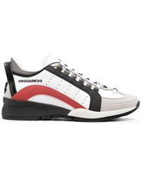DSquared² Logo-print Low-top Sneakers - White