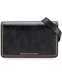 Brunello Cucinelli Contrasting Strap Belt Bag - Black