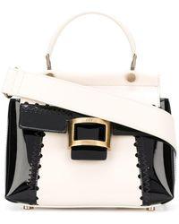 Roger Vivier - Viv Cabas Mini Patent Leather Shoulder Bag - Lyst