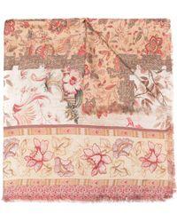 Pierre Louis Mascia Silk 135x195 Shawl - Multicolor